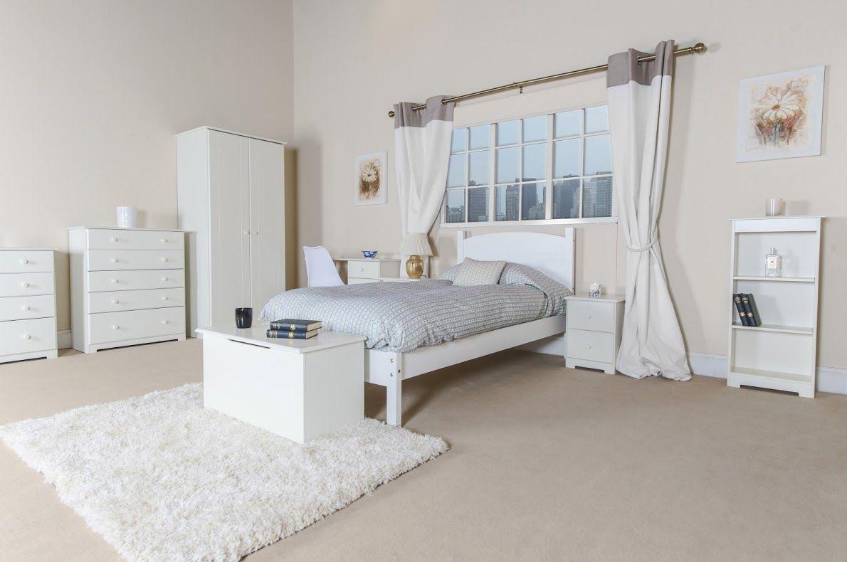 bambridge white painted shaker style bedroom set - double wardrobe